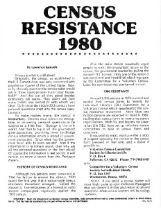 thumbnail-of-Flyer -- Census Resistance 1980